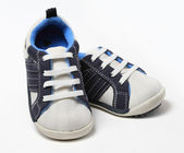 Pair of baby boy shoes — Stock Photo