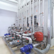 Machinery in a pharmaceutical production plant - Stock Photo