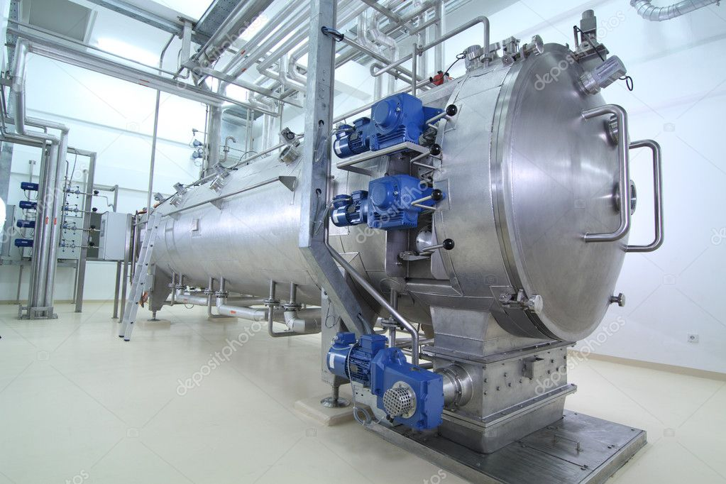 Modern machinery in a food processing plant  Foto Stock #8742105
