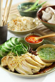 Asian food Chicken and Rice — Stock Photo