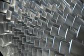 Close up van turbineschoepen — Stockfoto