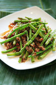 Dried sauteed string beans dish — Stock Photo
