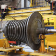 Stock Photo: Steam turbine at the workshop