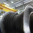 Steam turbine at the workshop - Stock Photo