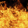 Blazing fire background — Stock Photo