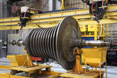 Steam turbine at the workshop — Stock Photo