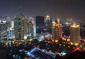 City buildings at night — Stock Photo