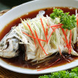 Chinese style Steamed Fish dish — Foto Stock