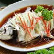 Chinese style Steamed Fish dish — Stock fotografie