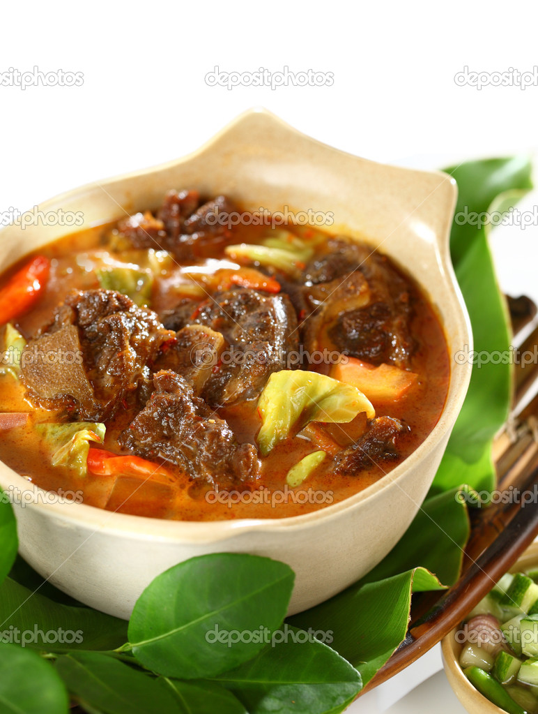 Mutton in Sweet and Spicy Soy Sauce — Stock Photo © photosoupy ...
