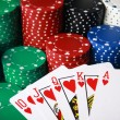 Royal flush winning Poker hand — Stock Photo