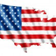 USA country flag map - Stock Photo
