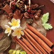 Natural herbal aromatherapy and spa ingredients - Stock Photo