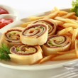 Stock Photo: Spiral Sandwich Appetizer