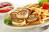 Spiral Sandwich Appetizer — Stock Photo