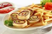 Spiral Sandwich Appetizer — Stock Photo