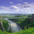 Clifton Suspension bridge Bristol - Stock Photo