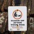 Dog fouling sign — Stock Photo