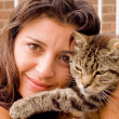 Woman and cat — Stock Photo #8669912