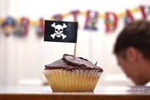 Pirate Cupcake — Stock Photo