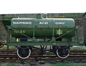Sulphuric acid rail tanker — Stock Photo
