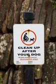 Dog fouling sign — Stock Photo