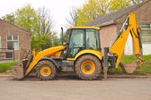 Parked JCB — Stock Photo