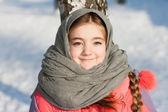 Piękna dziewczyna zima — Zdjęcie stockowe