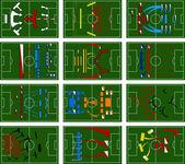 Voetbal slagvelden — Stockvector