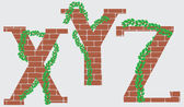 XYZ letters vector design — Stockvektor