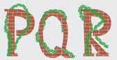 PQR letras vector design — Vetor de Stock