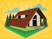 Vacancy mountain house — Stock Vector