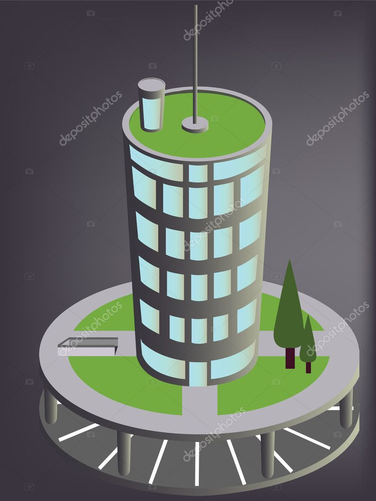 abstract 3d office building stock illustration abstract 3d office building