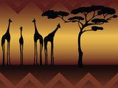 Abstract giraffe into the wild — Stock Vector