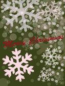 Merry Christmas green design — Stock Vector