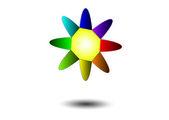 Color sun — Stock Vector