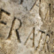 Appian Way (Appia Antica) tombstone close-up — Stock Photo