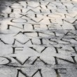 Appian Way (Appia Antica) tombstone inscription close-up — Stock Photo