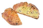 Italian pistachio cookies (cantucci, cantuccini, tozzetti) — Stock Photo