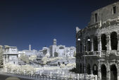 Rome, Italy, infrared Colosseo (coliseum). — Stock Photo