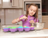 Kids cooking in the kitcher — Stock Photo