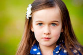 A young six year old girl outdoors — Stock Photo