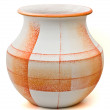 Royalty-Free Stock Photo: Orange textured pottery