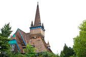 Wooden church of Miskolc — Stock Photo