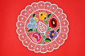 Hungarian circle embroidery — Stock Photo