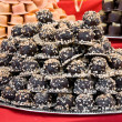 Piled chocolate assortments — Stock Photo
