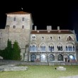 Back view of the castle of Tata at night — Stock Photo #8672165