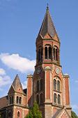Tower of Kreuzeskirche — Stock Photo