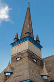 Detailed view on wooden church of Miskolc — Stock Photo