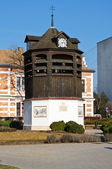 Side view of the old bell tower of Tata — Stock Photo